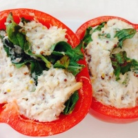 Tuna & Spinach Dijon Stuffed Peppers