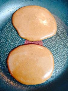 They sure look like pancakes!  Don't flip until there are air bubbles and the edges are firm.