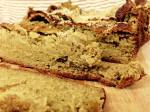 Coconut Oatmeal Banana Bread Sliced