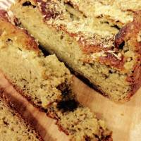 (High-Protein) Coconut Oatmeal Banana Bread (Gluten-free, Low-fat, Refined sugar-free)