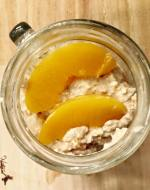 Perfectly Peachy Overnight Oatmeal