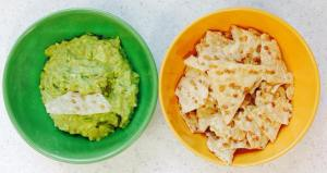 Quick and Easy Guacamole and Brown Rice Tortilla Chips