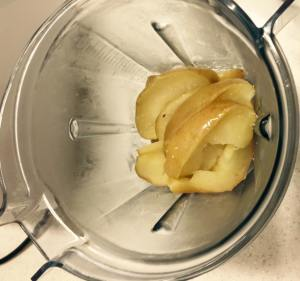 Drain the apples and carefully pour into a jug blender - be mindful of the hot steam!