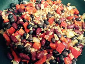 Easy Meatless Cheater Chili Skillet