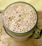 Peanut Butter Banana Protein Smoothie Mason Jar