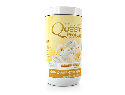 The latest offering from Quest.  Imagesource: http://www.questnutrition.com/protein-powders/banana-cream-2lb-canister/
