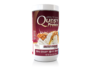 New Quest Salted Cararmel Flavor Protein Powder. Image source: http://www.questnutrition.com/protein-powders/salted-caramel-2-lb-canister/