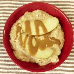Salted Caramel Apple Overnight Oatmeal Bowl