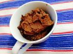 Single Serving Mocha Microwave Mug Cake with Whipped Chocolate Protein Frosting